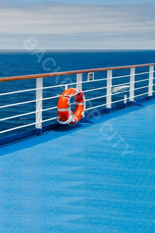 Cruise Blue Deck Computer Printed Backdrop - Backdrop City