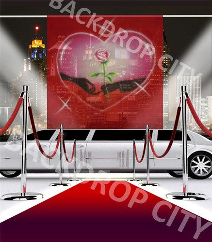 Lovers Limo Computer Printed Backdrop - Backdrop City