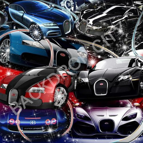 Bugatti 5  Computer Printed Backdrop - Backdrop City