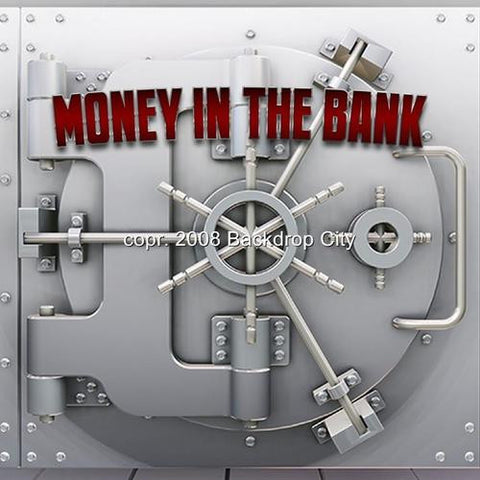 Money In Bank Computer Printed Backdrop - Backdrop City