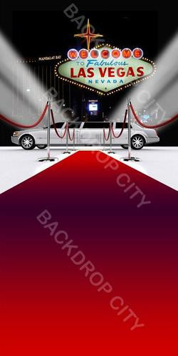Las Vegas Limo Computer Printed Backdrop - Backdrop City