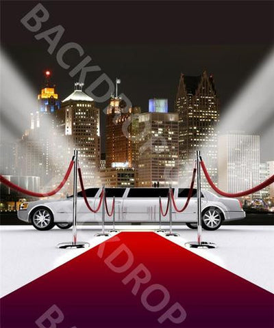 City Limo Computer Printed Backdrop