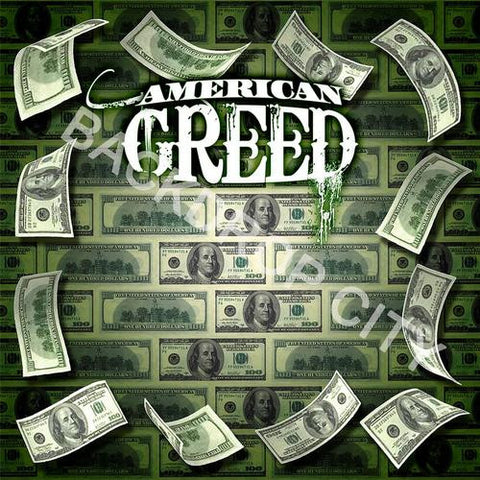 American Greed 1 Computer Printed Backdrop