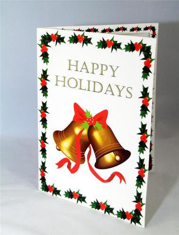 Happy Holidays Christmas Cardboard Picture Folder Frame 50/box