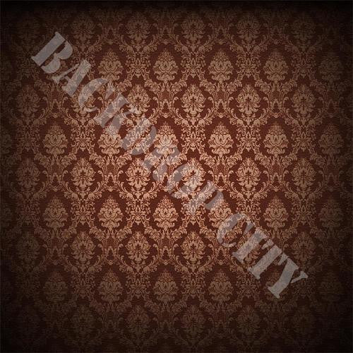 Burgundy Damask Computer Printed Backdrop - Backdrop City