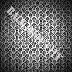 B&W Damask Computer Printed Backdrop - Backdrop City