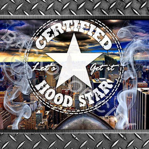 HOOD STAR - Digital Image File - Backdrop City