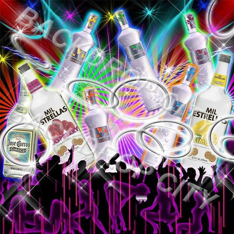 Alcohol Party Digital Image