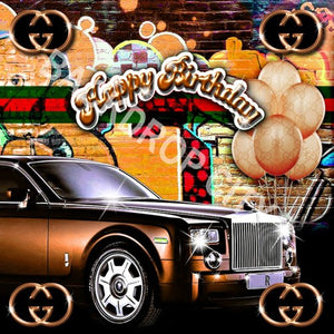 BIRTHDAY ORANGE - Digital Image File - Backdrop City