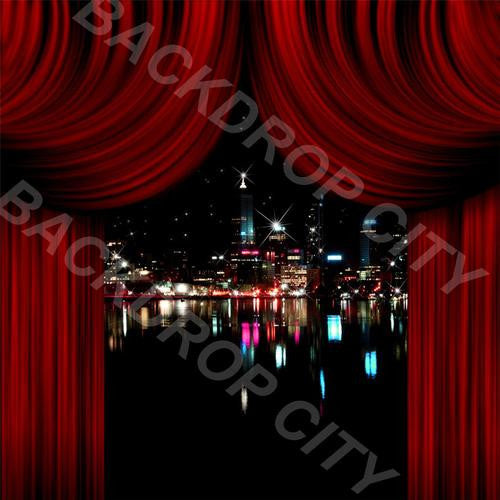 City Drapes - Digital Image File - Backdrop City