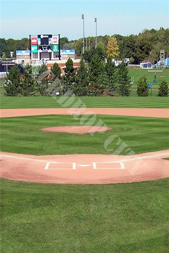 Baseball Diamond Light Computer Printed Backdrop - Backdrop City
