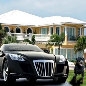 Mansion Maybach Digital Image File - Backdrop City