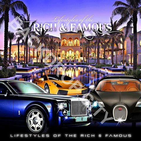 Rich & Famous Digital Image File - Backdrop City