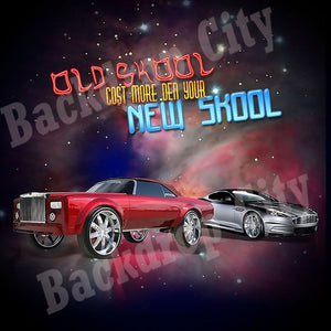 Old Skool-New Skool Digital Image File - Backdrop City