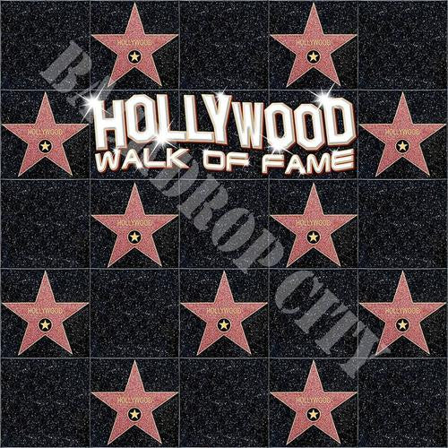 Hollywood Stars Computer Printed Backdrop - Backdrop City