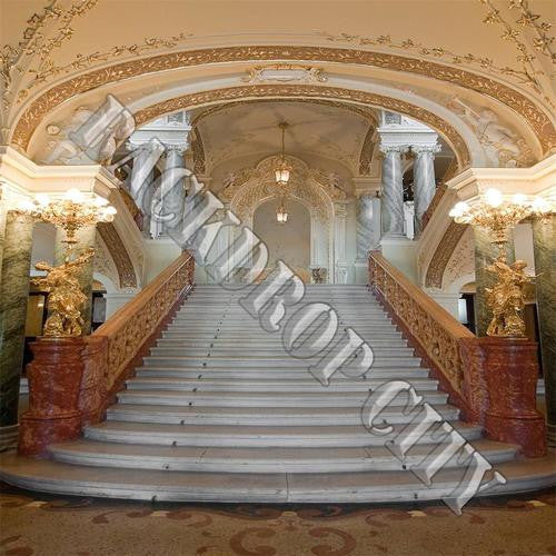 Luxe Staircase Computer Printed Backdrop - Backdrop City