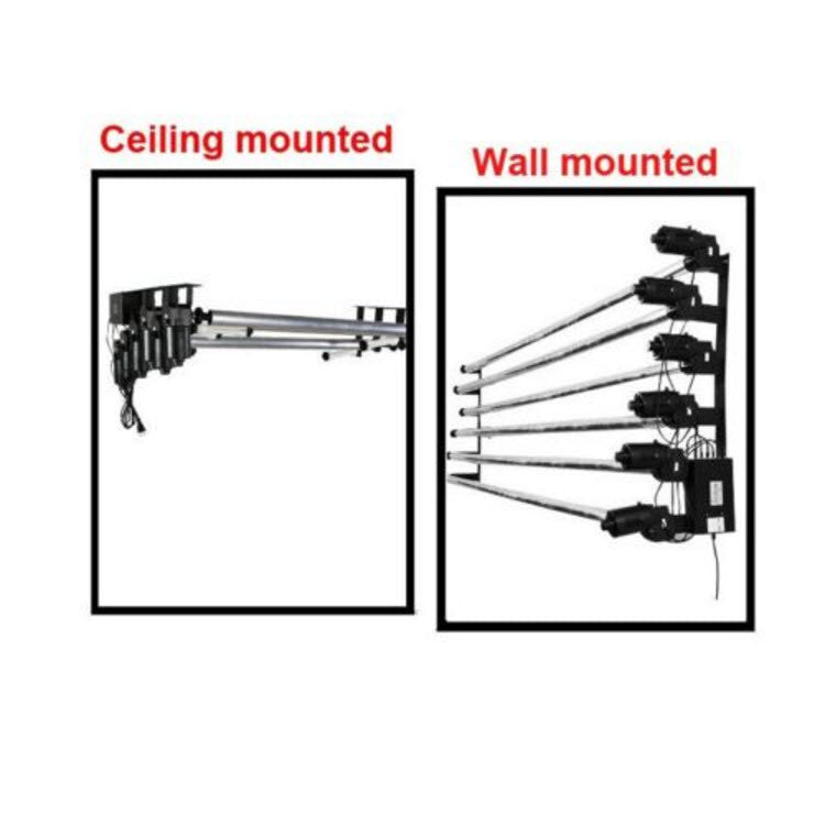 Ceiling Or Wall Mounted Electric 6 Roller Backdrop Support