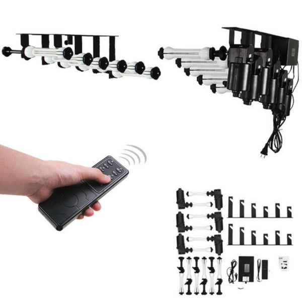 CEILING OR WALL-MOUNTED ELECTRIC 6-ROLLER Backdrop SUPPORT SYSTEM