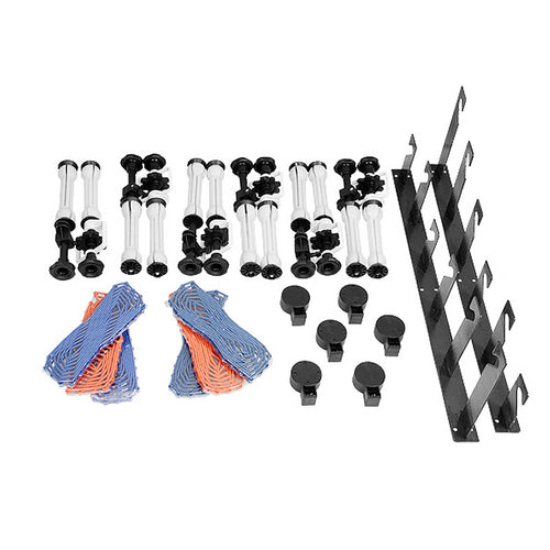 CEILING OR WALL-MOUNTED MANUAL 6-ROLLER Backdrop SUPPORT SYSTEM