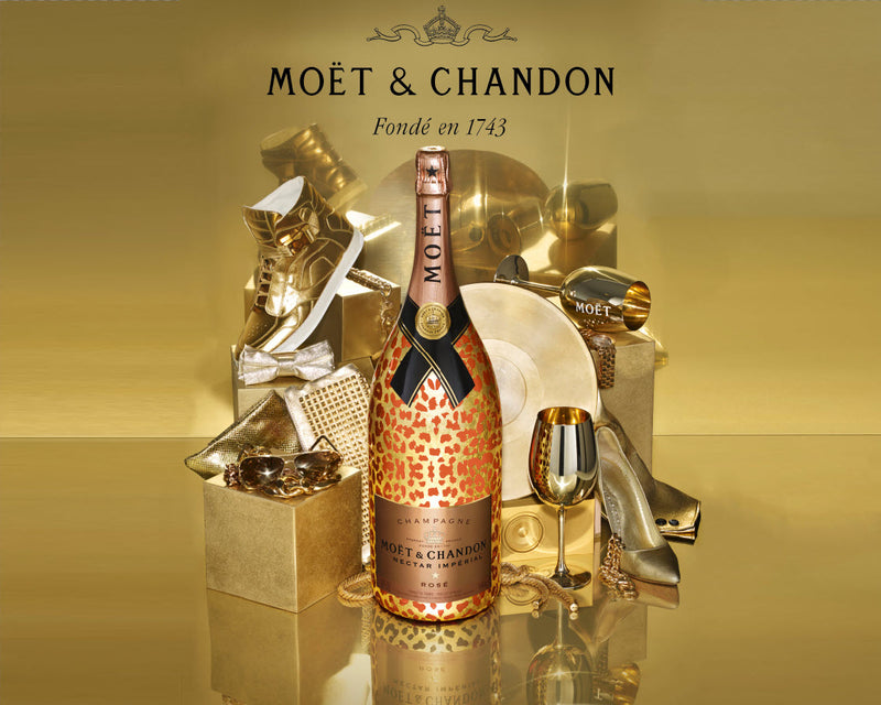 Gold Moet Backdrop