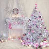 Lavender and White Christmas Digital Image
