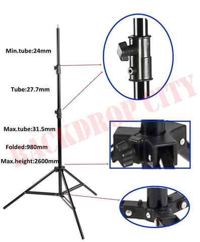 8 ft Heavy Duty Vertical Stand - Backdrop City