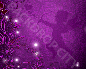 Purple Cupid Backdrop