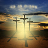 He Is Risen Computer Printed Backdrop - Backdrop City