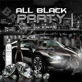 All Black Party Computer Printed Backdrop