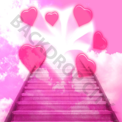 Valentine Stairs Backdrop
