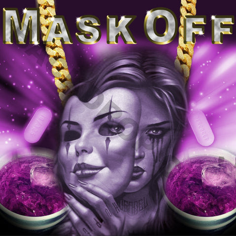 Mask Off Computer Printed Backdrop