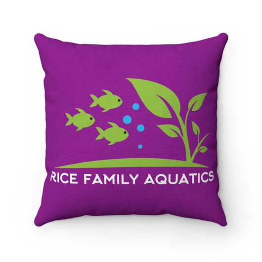 Spun Polyester Square Pillow Case - Rice Family Aquatics