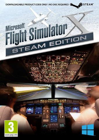 Microsoft Flight Simulator X Steam Edition with X Deluxe and Acceleration (DVD)