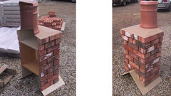 Brick Chimney Cross-section