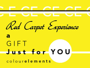 "Colour Elements ""Red Carpet Experience"" gift voucher"