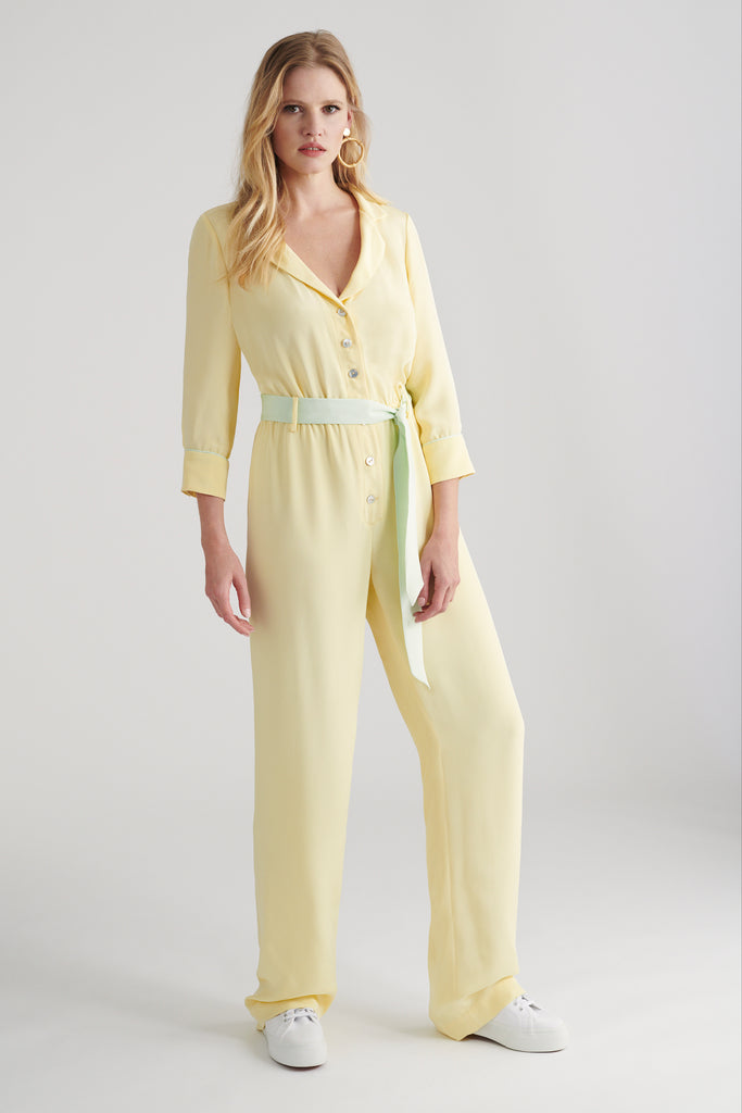• LARA JUMPSUIT • YELLOW & MINT