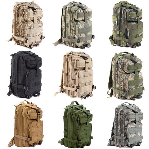 Custom Large Capacity 30L Hiking Camping - Military Tactical Backpack