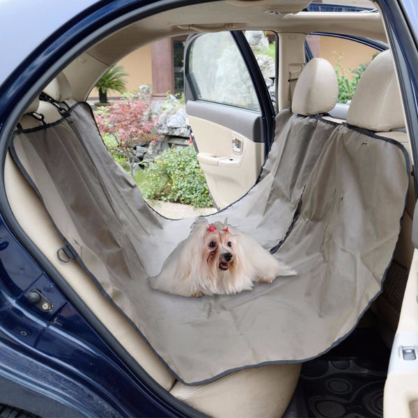 OXFORD - HEAVY DUTY - COMPLETE PET SEAT COVER [WATERPROOF & HAMMOCK CONVERTIBLE]