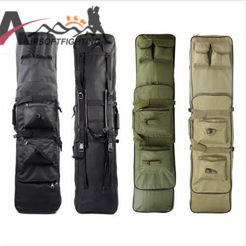 Tactical Military 120CM Rifle Case Gun Bag with Shoulder Strap Airsoft Hunting Paintball Combat Backpack