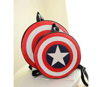 Avenger's Captain America Leather Backpack - His & Her - Super High Quality - Try and Buy!