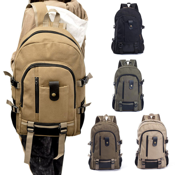 mochila notebook Canvas backpack zipper men rucksacks laptop travel bags mochila military men Vintage casual college school bags