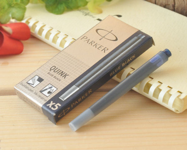 Original Parker fountain pen  Quink / Quink mini ink  sac  ink cartridges black blue red 3 colors