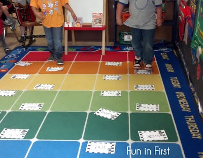 Sight words hopscotch