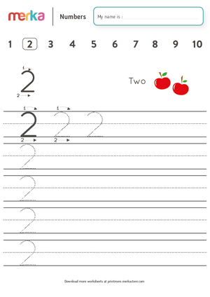 Printables - Numbers - Two