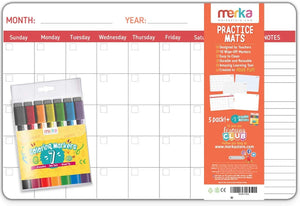 merka Drawing Set 5 Mats Monthly Planner Calligraphy Music Drawing
