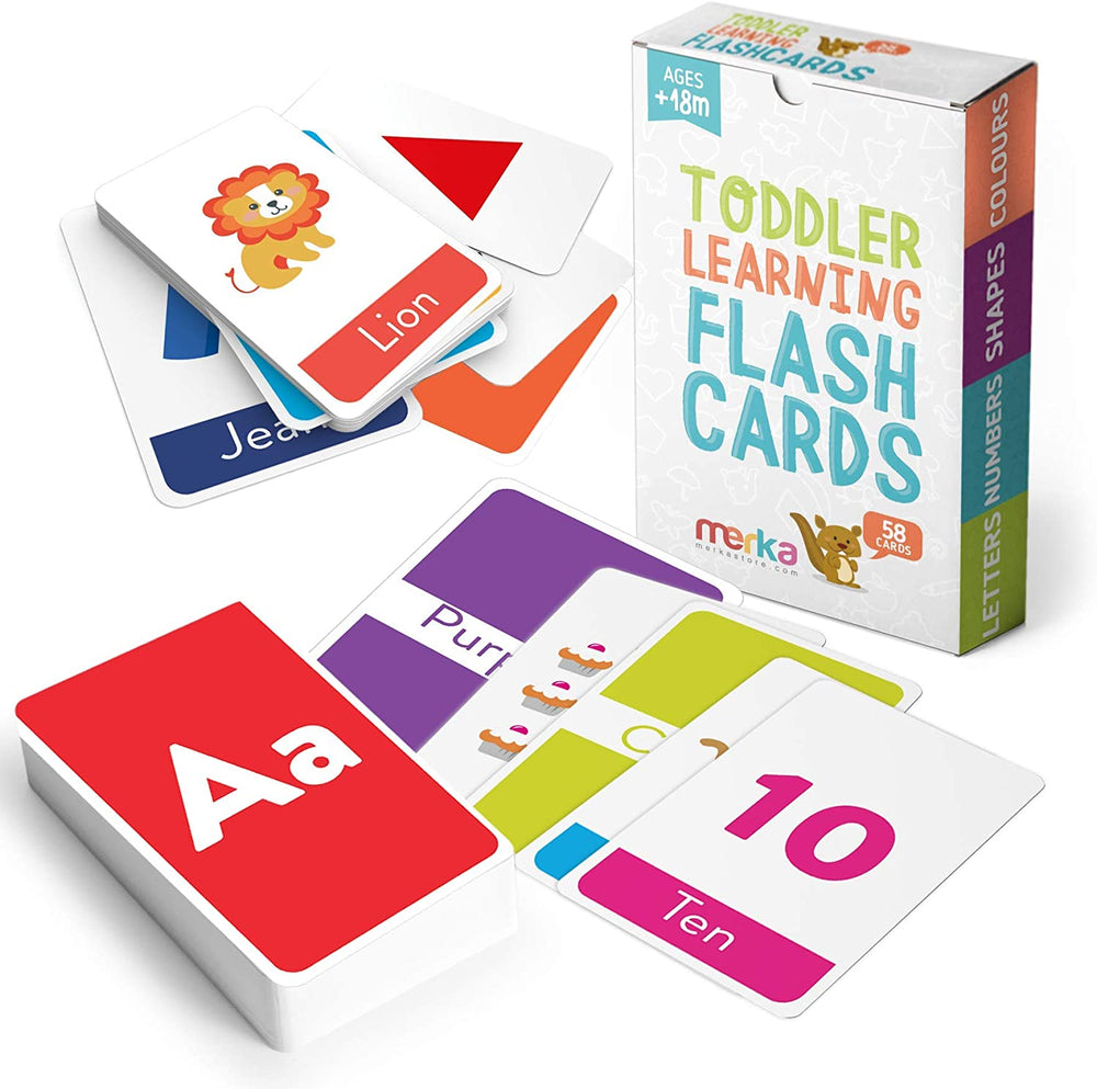merka Educational Flash Cards for Toddlers 58 Cards