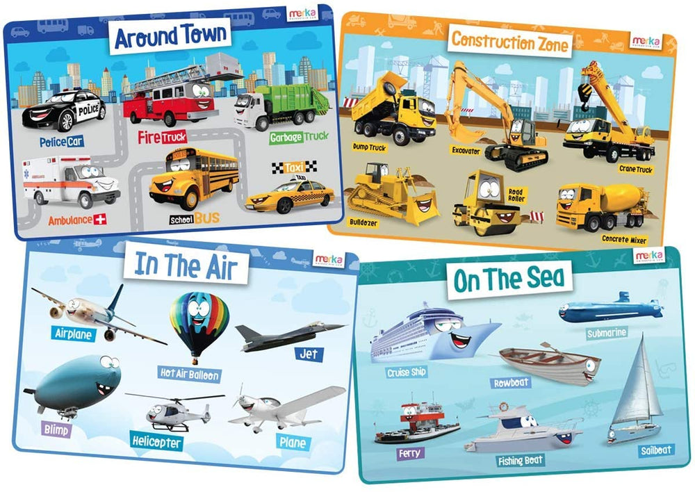 Educational Placemats - Transport Set