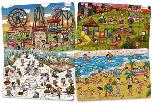 Load image into Gallery viewer, merka Kids Placemats Set of 4 Park and Fair