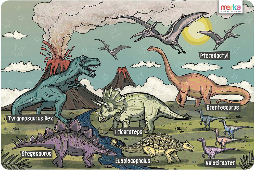 Educational Placemat - Dinosaurs