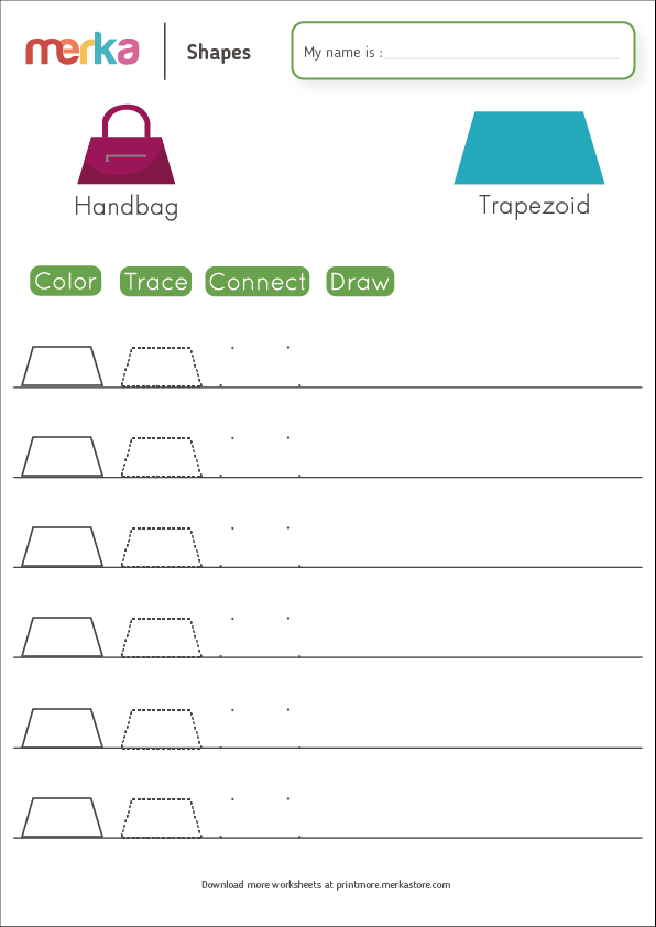Printables - Shapes - Trapezoid